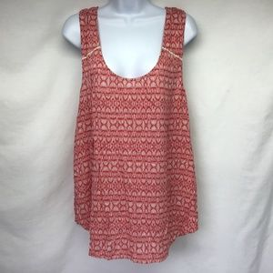 Lucky Brand Tank Red Criss Cross Open Back Tank XL